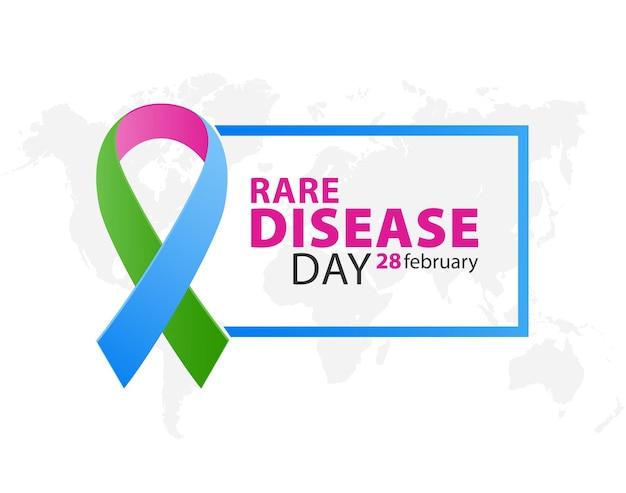 Трехцветная лента ко всемирному дню редких болезней
