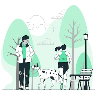 Through the parkconcept illustration