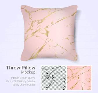 Throw pillow mockup template