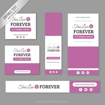 Thrue love banners pack