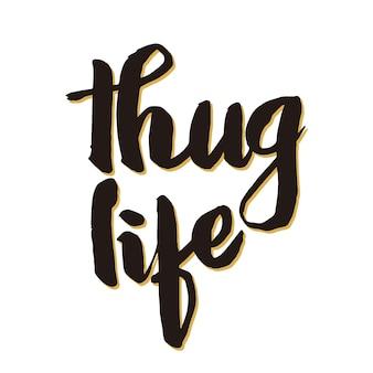 Thug life hand writing