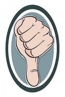 Thumb down symbol