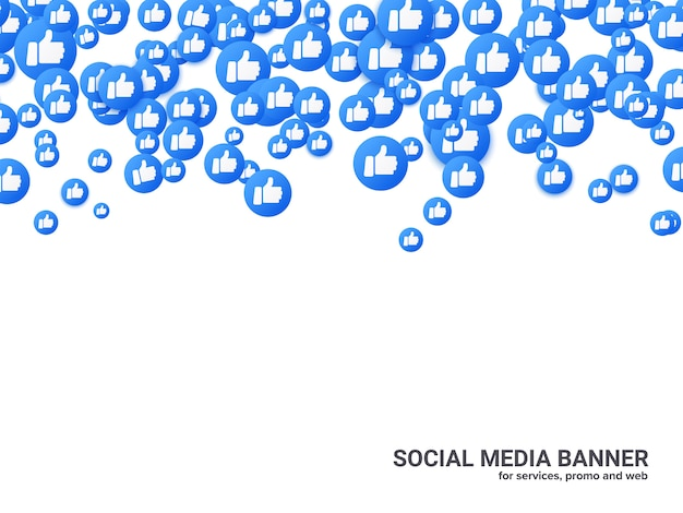 Thumb up background for social network,