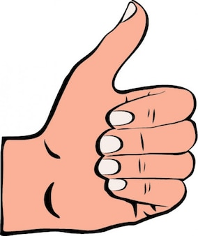 Thumb up facebook icon painted vector