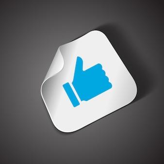 Большой палец вверх значок элемент дизайна вектор