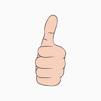 Thumb up sign. cool, like, good, nice, bravo - hand gesture with finger up. vector illustration.