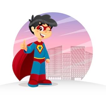Thumb up super boy