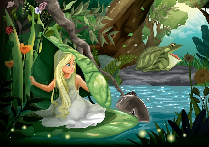 Thumbelina and the toad