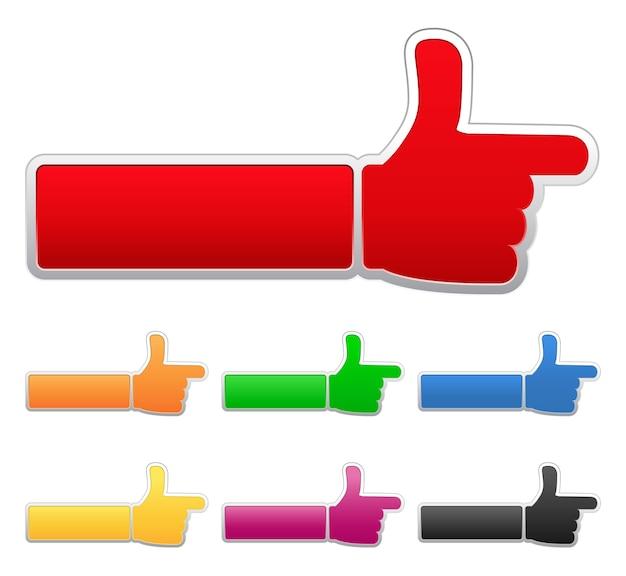 Палец вверх знак