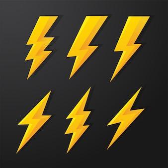 Thunder and bolt lighting flash correction set.