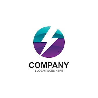 Thunder in circle logo