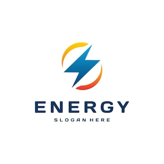 Thunder electricity power fast speed logotype concept, lightning logo template vector icon