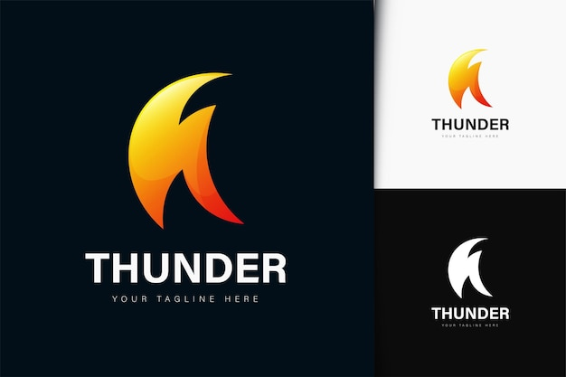 Thunder flash logo design