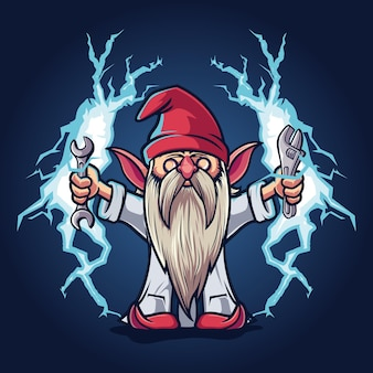 Thunder gnomes dwarfs mascot cartoon