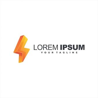 Гром градиент цветной дизайн логотипа
