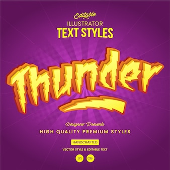 Thunder and lightning text style