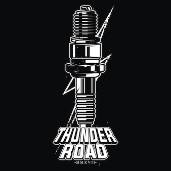 Thunder road design for classic bikers.