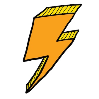 Thunder sketch drawn with vector eps10.