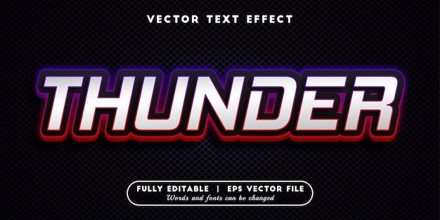 Thunder 텍스트 효과, 편집 가능한 텍스트 스타일