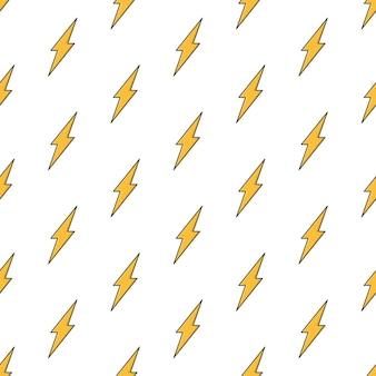 Thunderbolt бесшовные модели на белом фоне. иллюстрация темы молнии