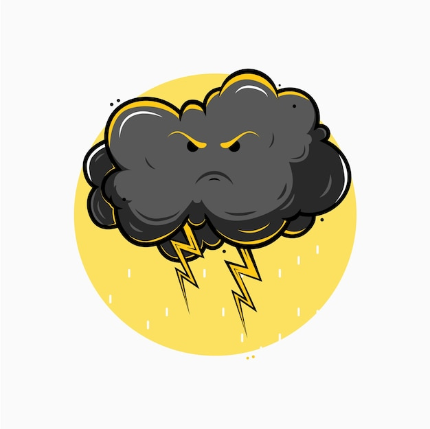 雷雨の雲のイラスト