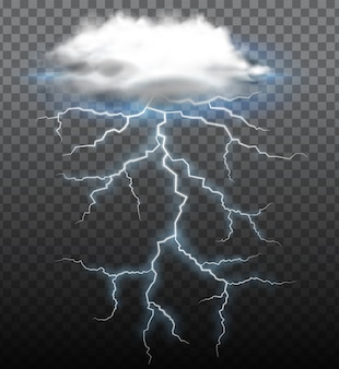 A thunderstorm on trasparent background