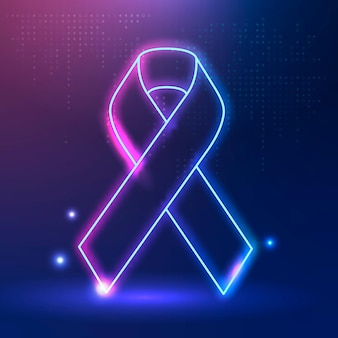 Thyroid cancer awareness pink and blue ribbon for health support