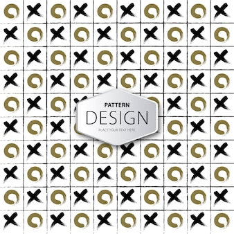 Tic tac toe pattern background