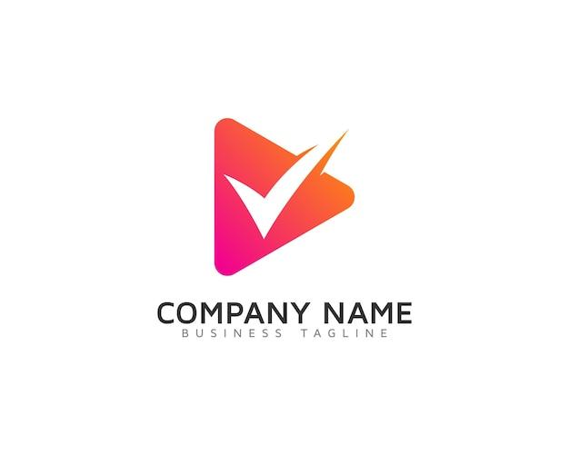 Tick logo design Premium Vector