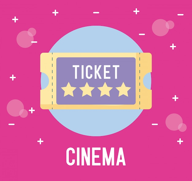 Ticket of cinema isolated