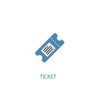 Ticket concept 2 colored icon. simple blue element illustration. ticket concept symbol design. can be used for web and mobile ui/ux