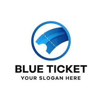 Шаблон логотипа градиента билета
