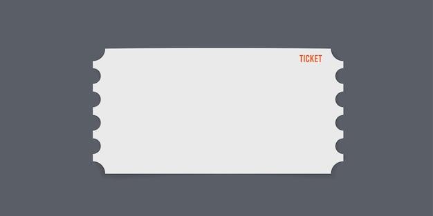 회색에 고립 된 간단한 티켓