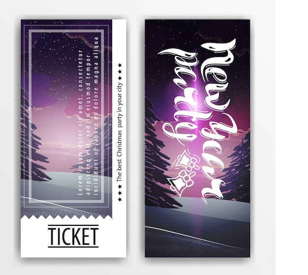 Ticket template for a new year party