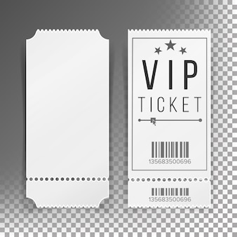 Ticket template set