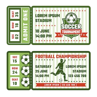 Tickets for football match