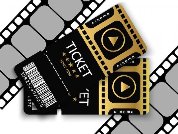 透明な背景でイベントや映画に参加するためのチケット。