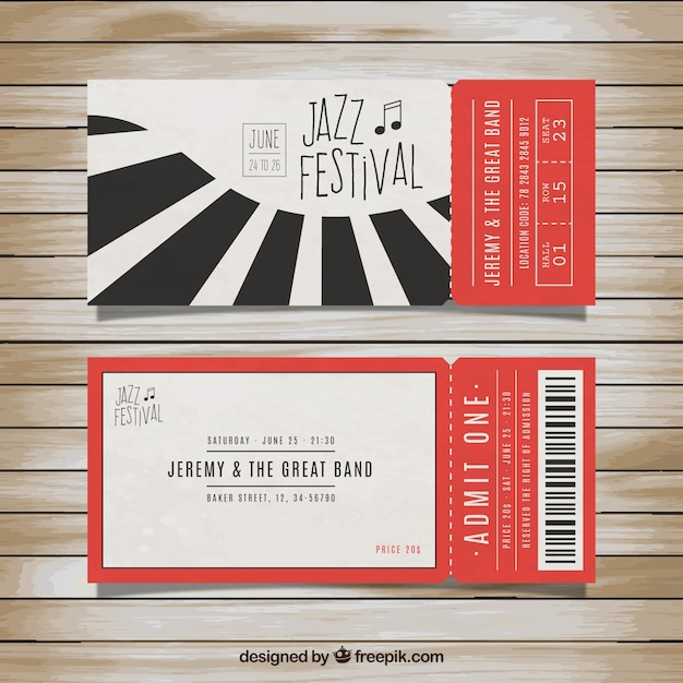 Free Tickets For Jazz Festival Svg Dxf Eps Png Download