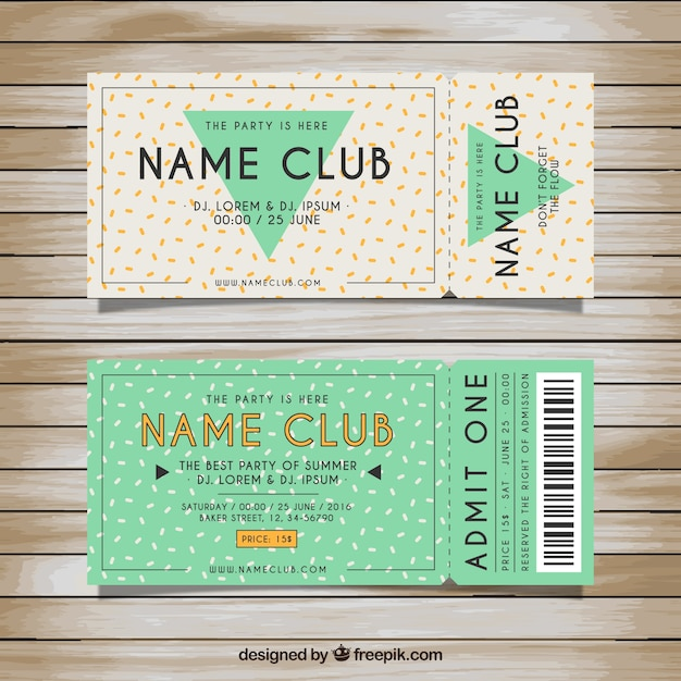 tickets template