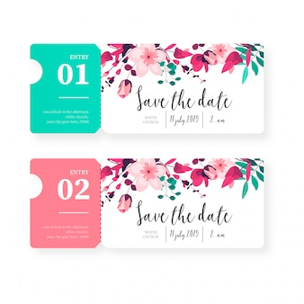 Tickets for Save the Date Invitation