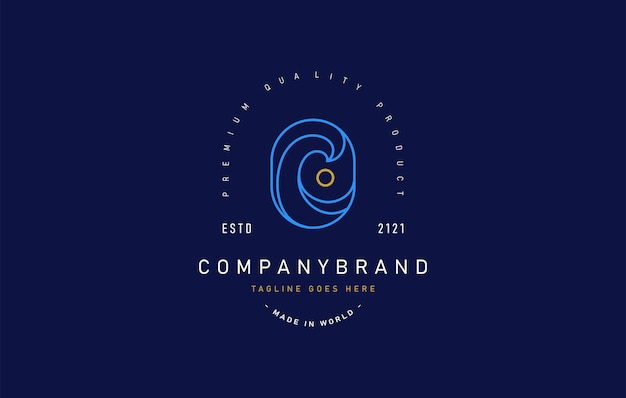 Шаблон дизайна логотипа приливной луны