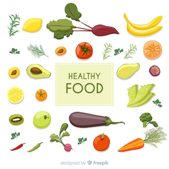 Tidy fresh food background