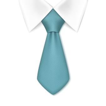 넥타이에 고립 된 흰색 배경. 비즈니스 사람 개념입니다.
