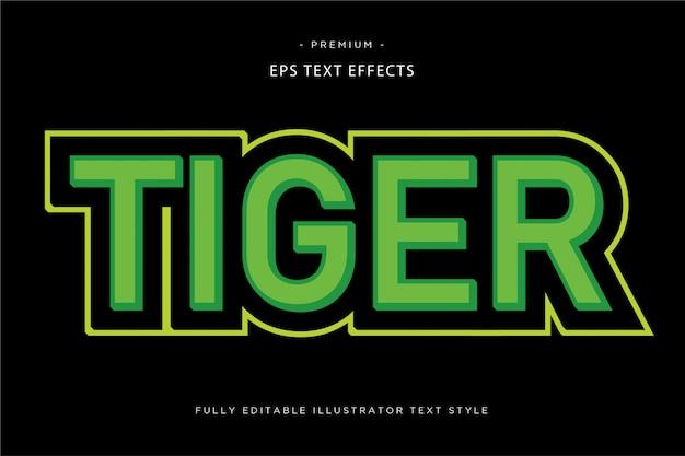 Tiger 3d текстовый эффект