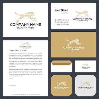 Тигр абстрактный логотип и визитная карточка