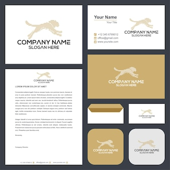 Tiger abstract logo and business card