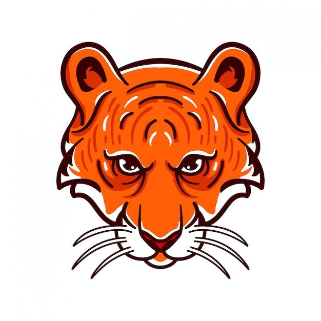 Tiger angry animals logo esports style Premium Vector