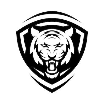 Tiger animal sport mascot head logo vector