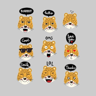 Tiger character with speech bubble