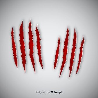 Tiger claws mark background